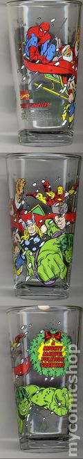 Toon Tumblers Marvel Comics Pint Glasses (2010) X-MAS