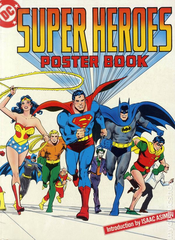 dc super heroes poster book from 1970s