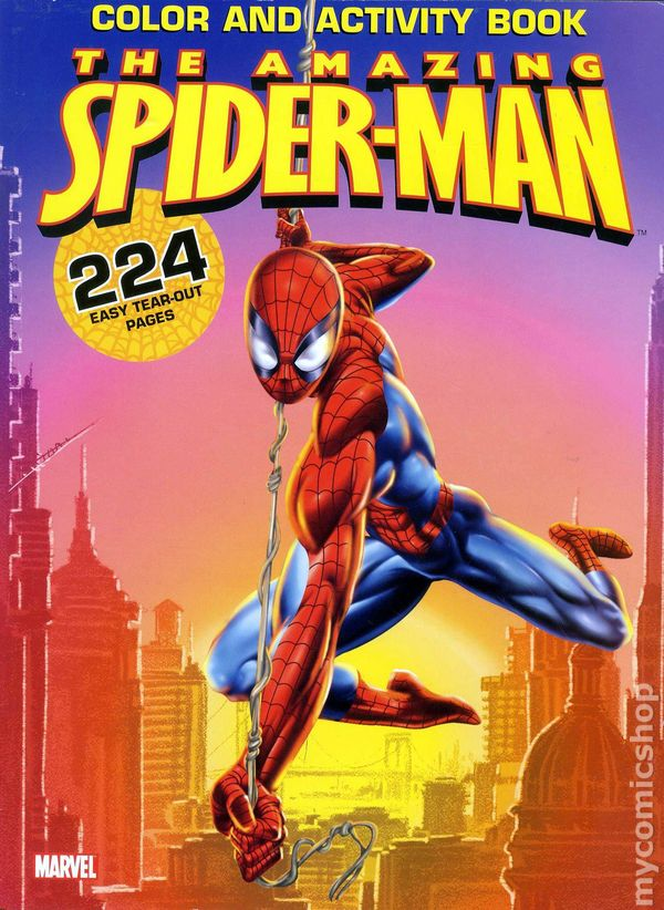 Comic books in \'Spider-Man Coloring Book\'