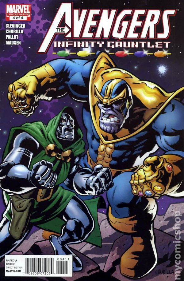 Infinity Gauntlet Comic Books Issue 4