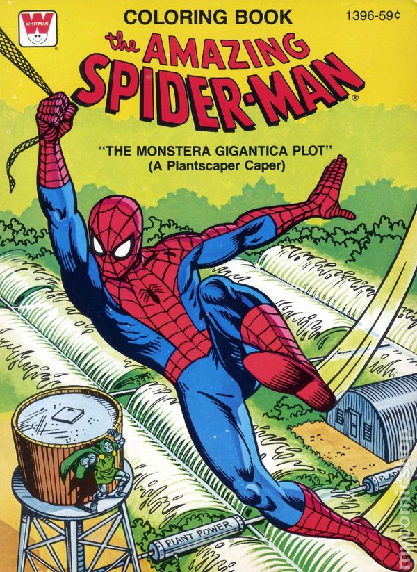 Amazing Spider-Man Coloring Book SC (1970-1980 Whitman) comic books 1979