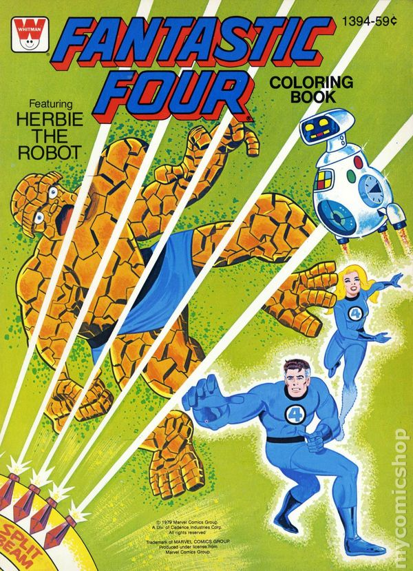 Fantastic Four Coloring Book SC (1970-1980 Whitman) WH-1030 FN