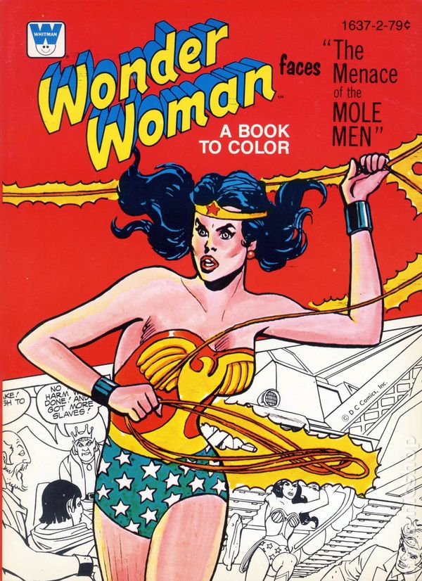 Wonder Woman Coloring Book SC (1970-1980 Whitman) comic books