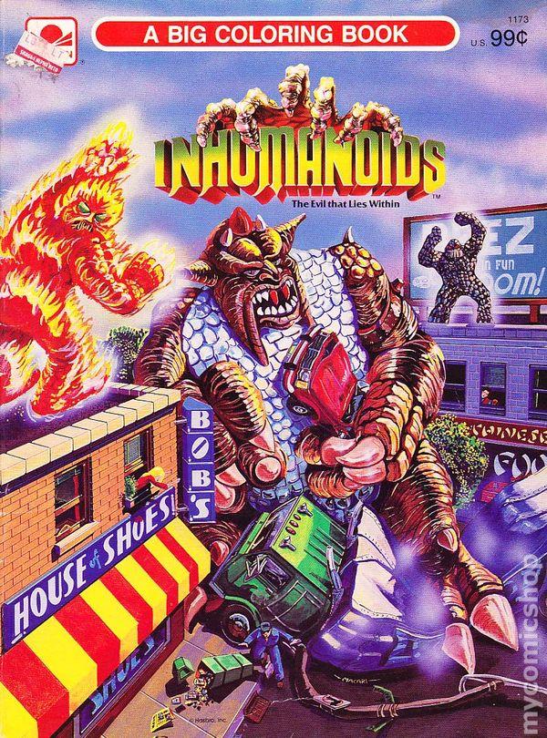Inhumanoids A Big Coloring Book SC (1986 Golden) comic books