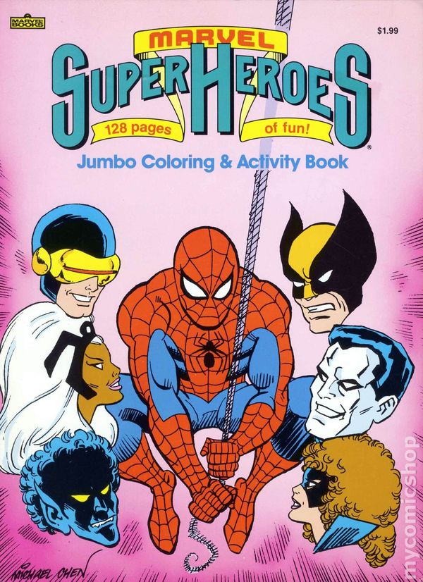 Marvel Super Heroes Jumbo Coloring And Activity Book 1987 Comic Books
