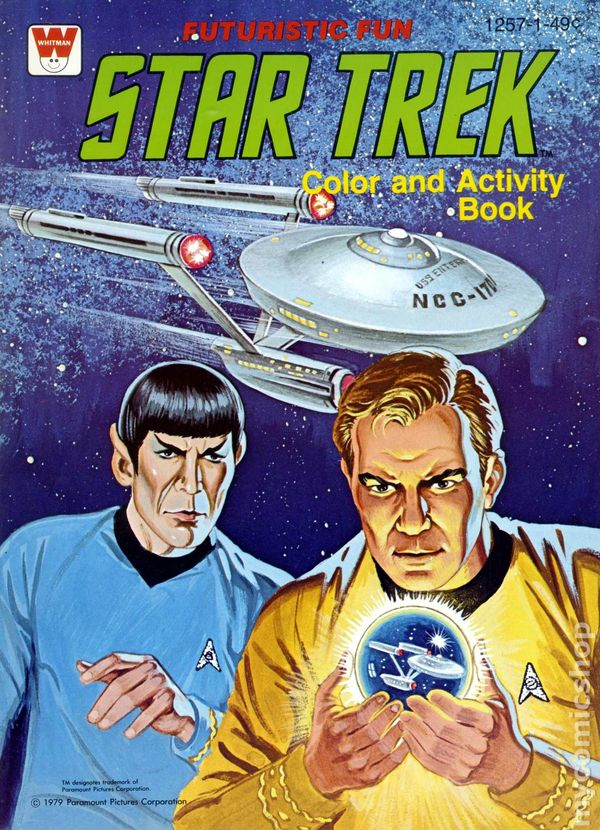star trek color and activity book sc 1978 1979 whitman st 1257 - Star Trek Coloring Book