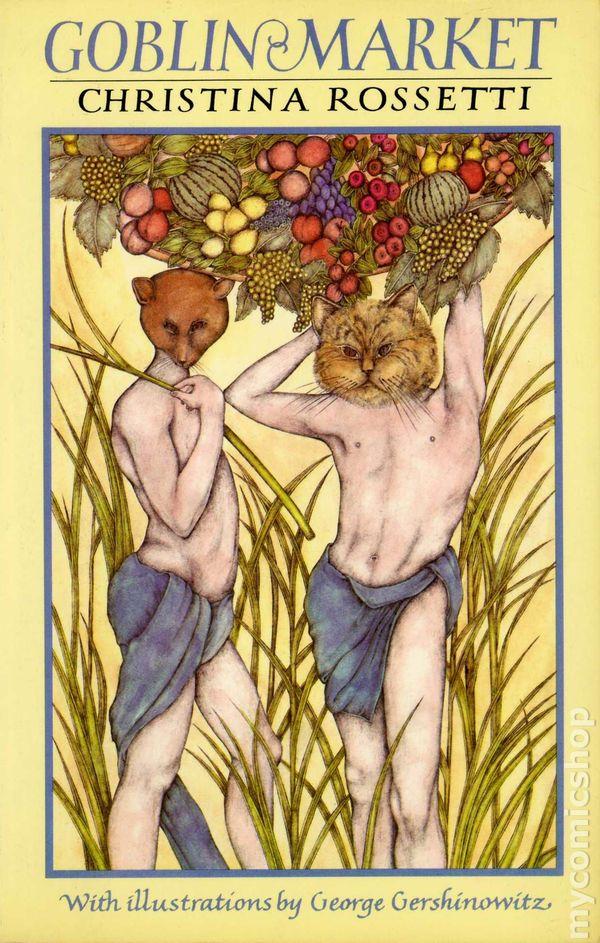 goblin market Rossetti, dante gabriel frontispiece to christina rossetti's goblin market and other poems 1862public domain via wikimedia commons.