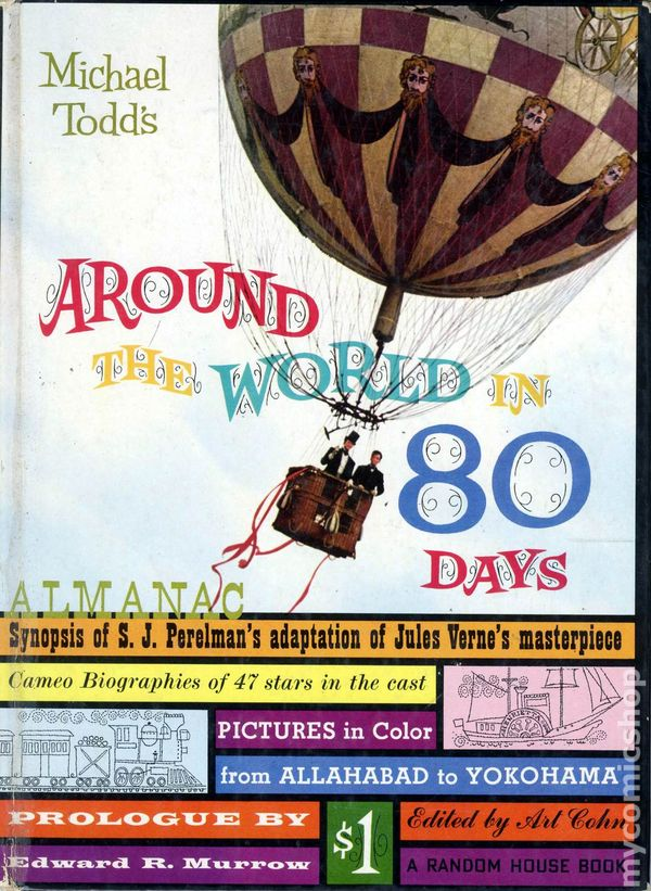 around the world in 80 days almanac hc  1956  comic books