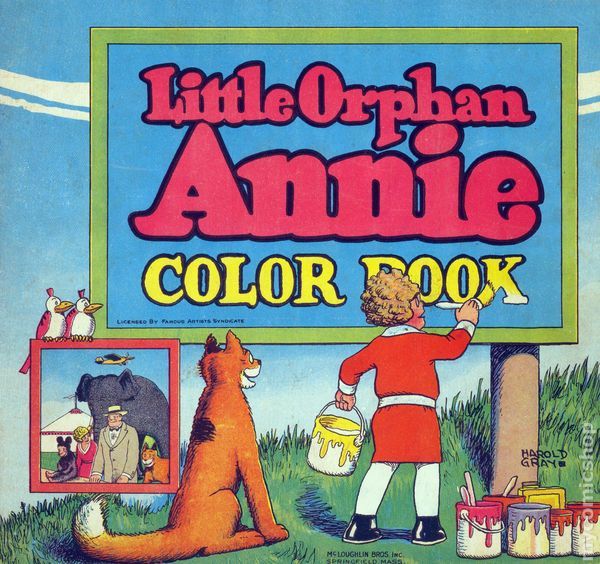 Little Orphan Annie Coloring Pages Little Orphan Annie Color Book