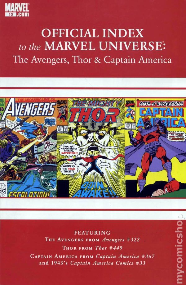 6161aa567a8479 Official Index Marvel Universe Avengers Thor Capt. America 10