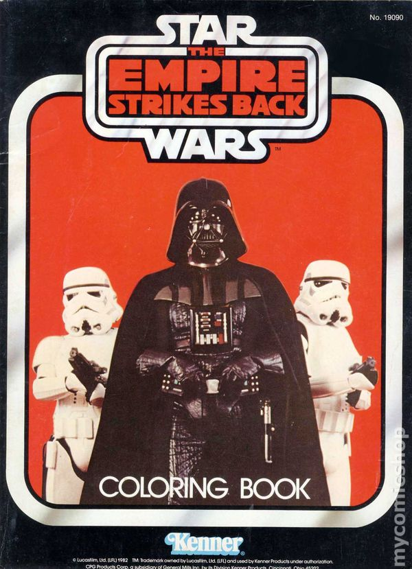 Star Wars Empire Strikes Back Coloring Book SC (1982) comic books