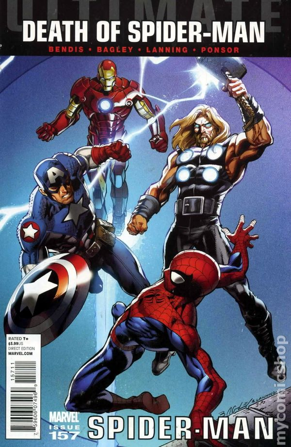 2nd Series Ultimate Spider-Man #157A 2011 Bagley Variant FN Stock Image