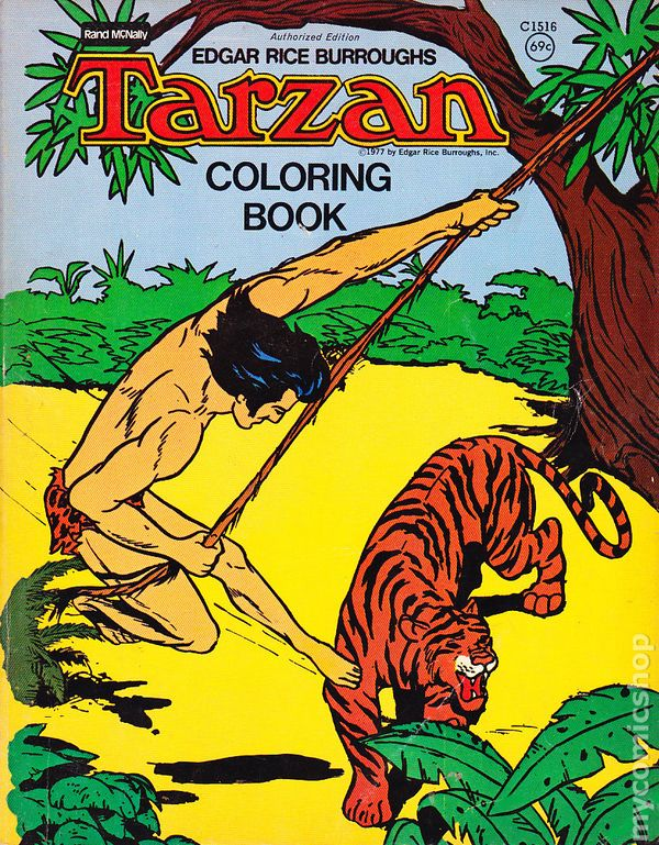 Tarzan Coloring Book Rand McNally Comic Books