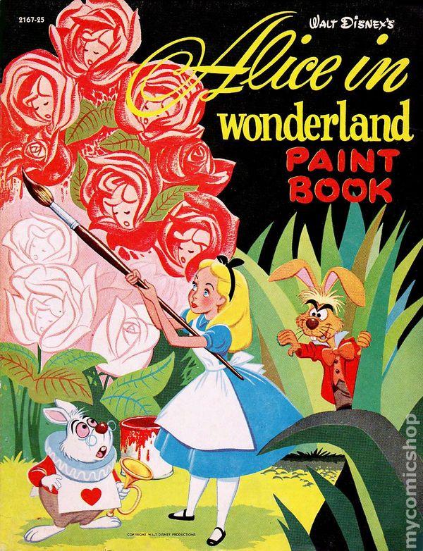 Disney alice in wonderland coloring book