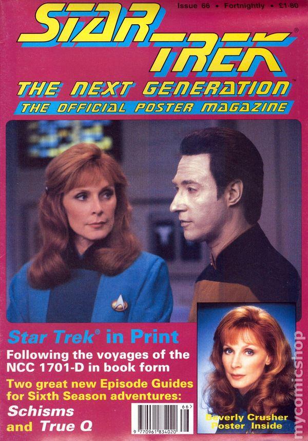Star Trek The Next Generation Official Poster Mag 1991 66