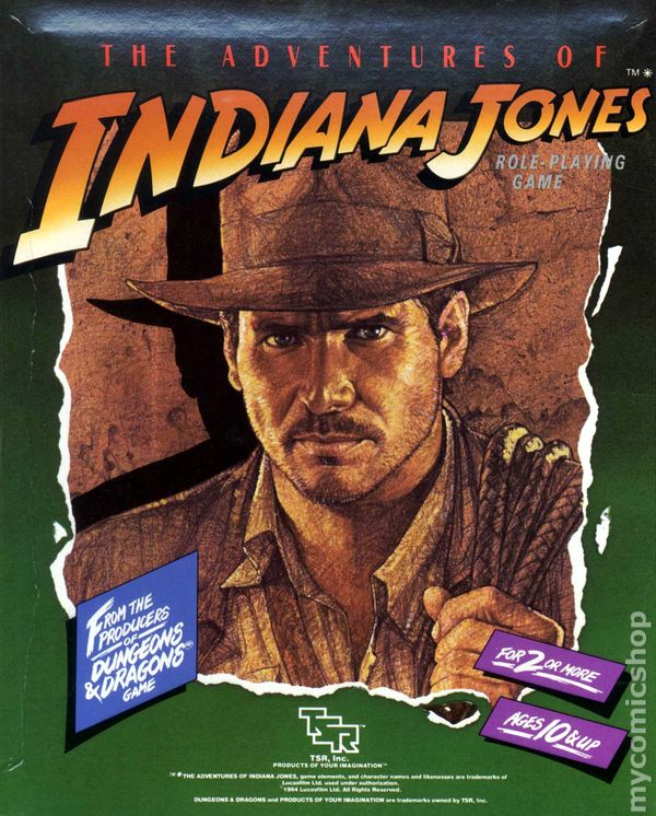Comic books in 'Indiana Jones RolePlaying Game'