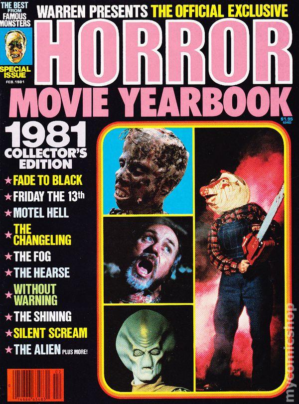 Horror Movie Yearbook Comic Books