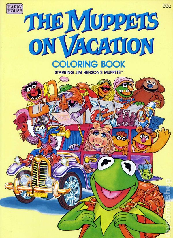 Muppets on Vacation Coloring Book SC (1982 Happy House) comic books