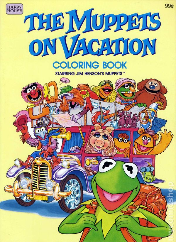Muppets On Vacation Coloring Book Sc 1982 Happy House