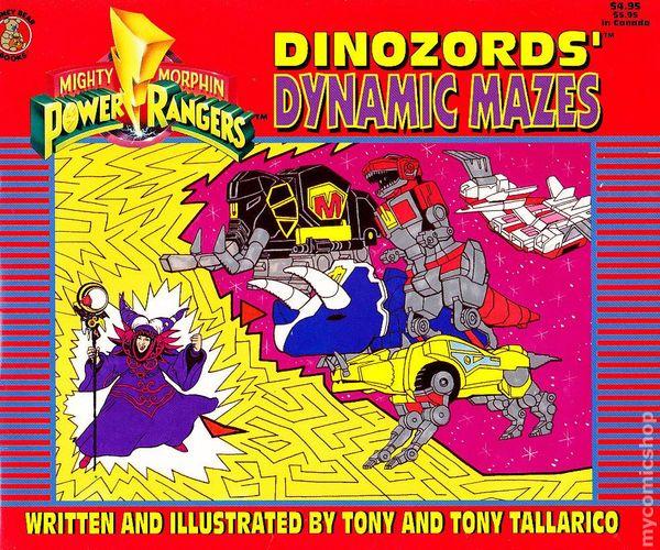 Mighty Morphin Power Rangers Dinozord S Mazes Comic Books