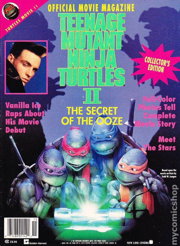 Teenage Mutant Ninja Turtles Ii Official Movie Mag Comic Books