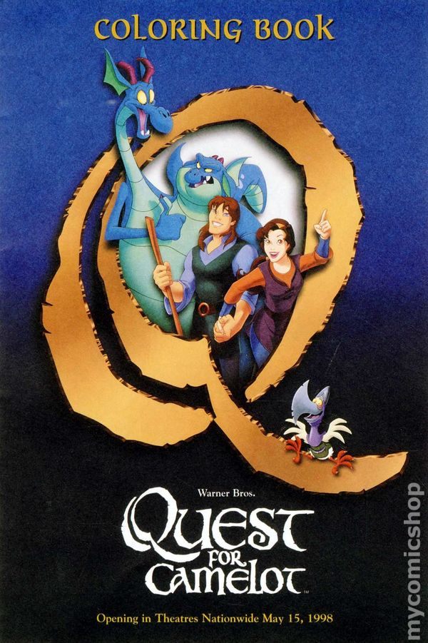 Quest for Camelot Coloring Book SC (1998) comic books