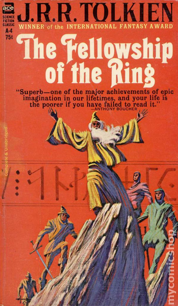 Lord Of The Rings Pb 1965 Novel Ace Unauthorized Edition Comic Books