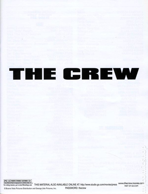 Crew Promotional Media Kit 2000 Comic Books