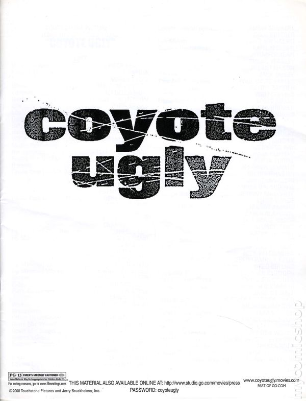 Coyote Ugly Promotional Media Kit 2000 Comic Books