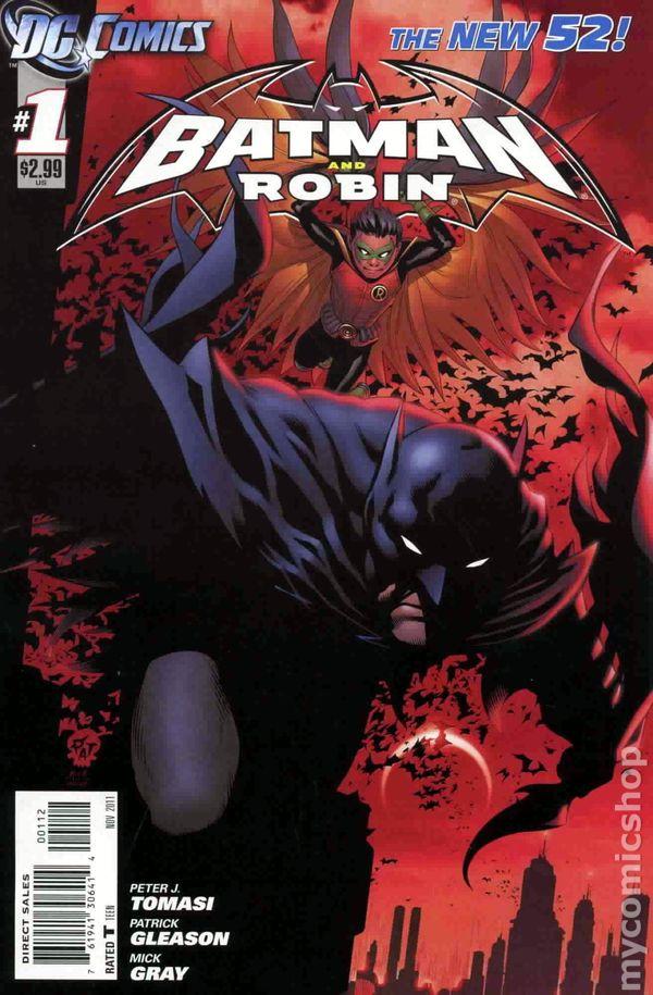Batman and Robin Futures End 1B 2014 Gleason Variant VF Stock Image
