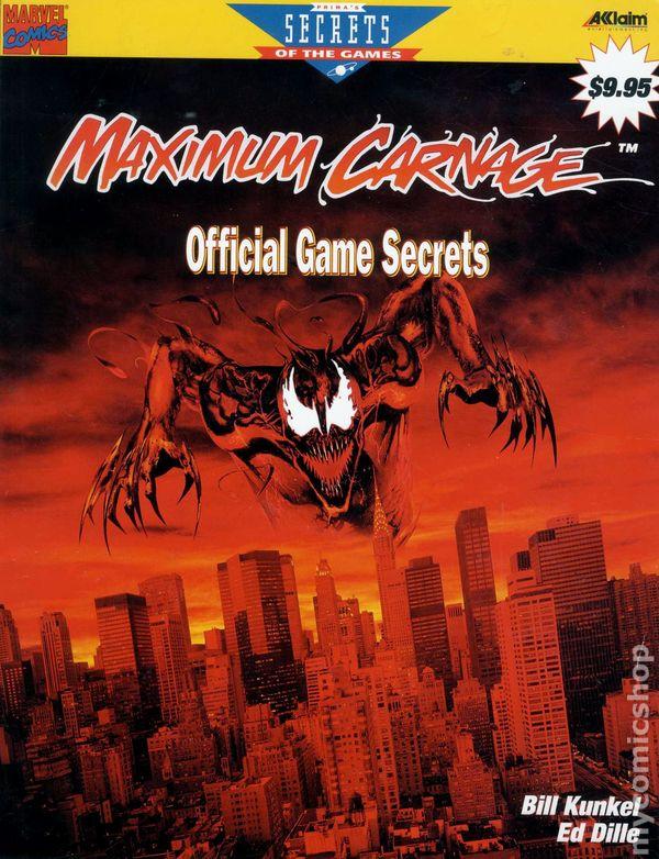 Maximum Carnage Official Game Secrets Sc 1994 Marvel Prima Comic Books
