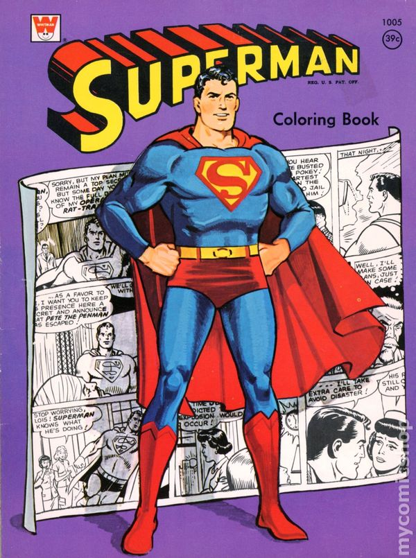 Superman Coloring Book SC (1965-1980 Whitman) comic books