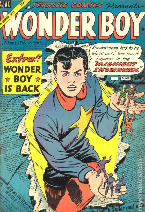 comic 1954 mystery comics terrific books