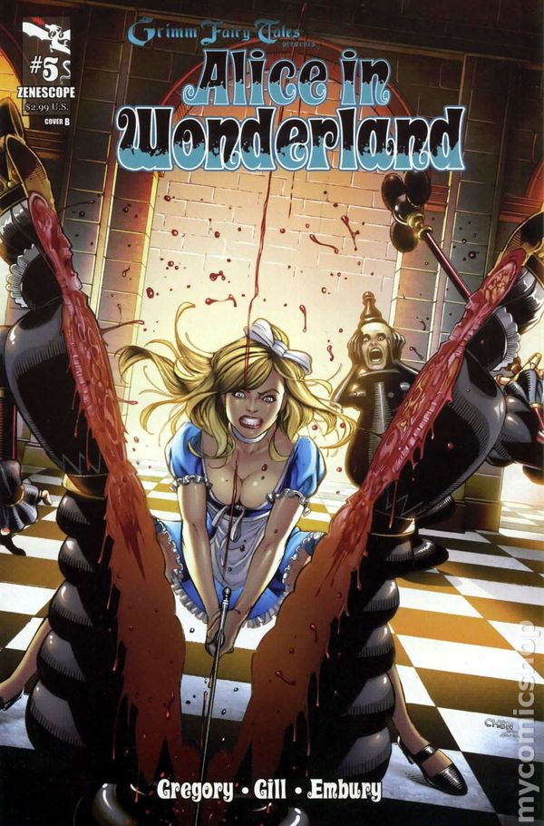 Grimm Fairy Tales Alice In Wonderland 2012 Zenescope Comic Books