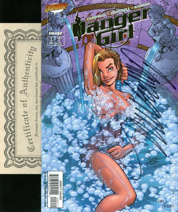 Danger Girl #4A VF 1998 Stock Image