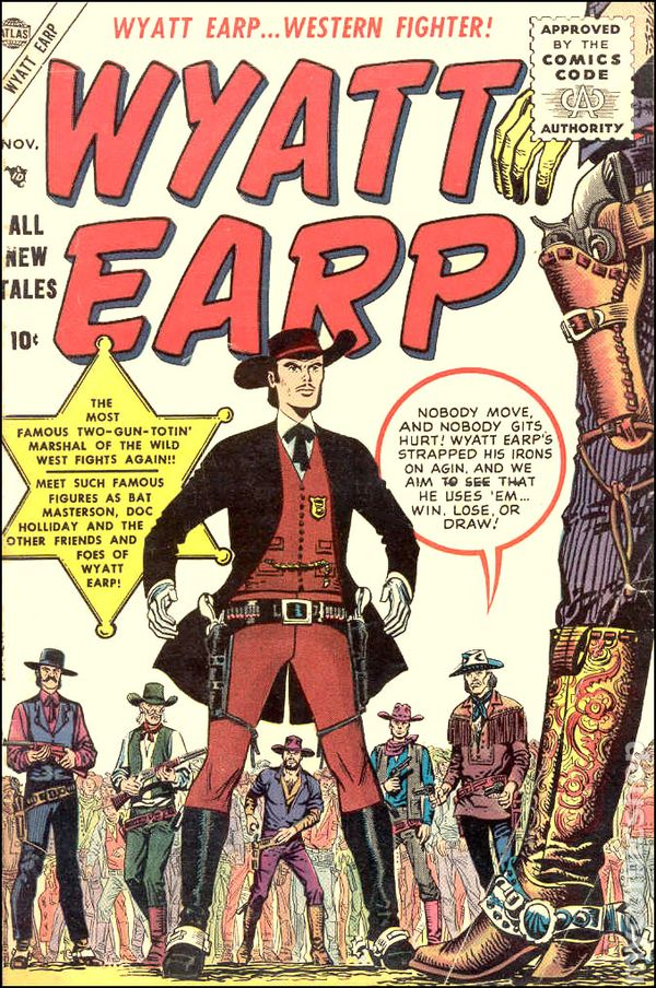 Wyatt Earp 1955 Atlas Marvel Comic Books