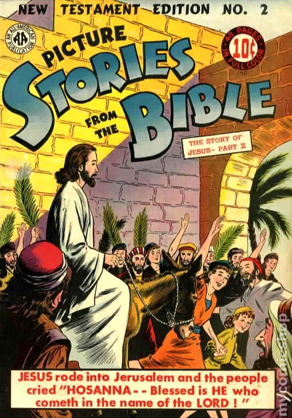 Picture Stories From The Bible New Testament Comic Books