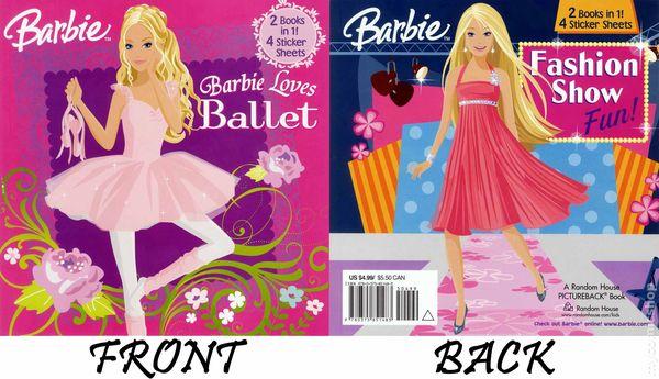 Barbie 2 In 1 Book SC 2009 A Random House Pictureback