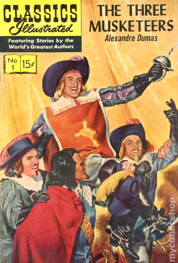 The Illustrated Mum Book Cover : Classics illustrated the three musketeers comic