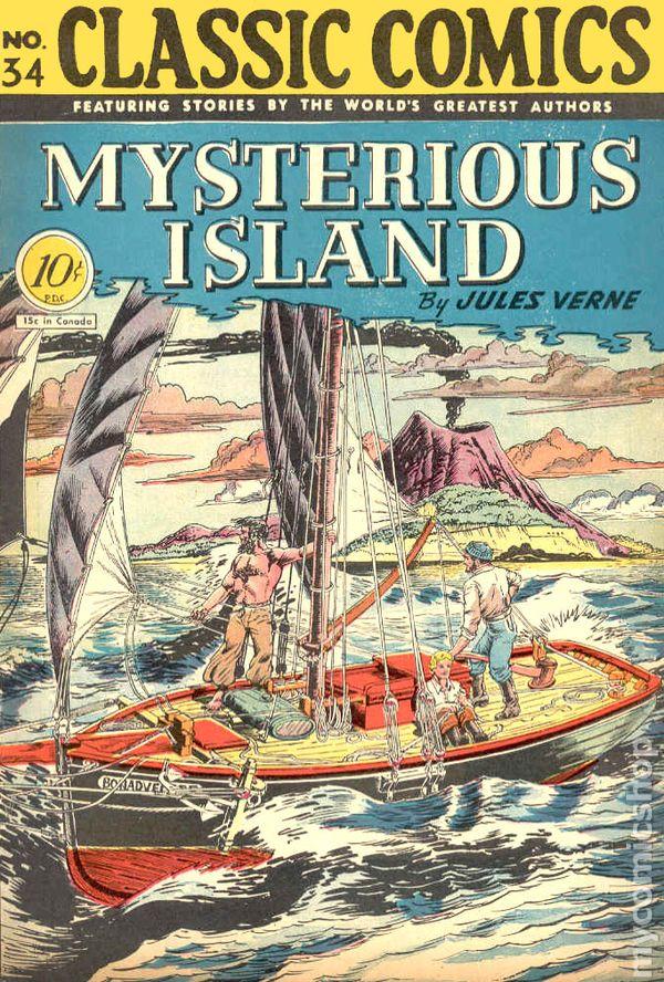 Classics Illustrated 034 Mysterious Island 1947 Comic Books