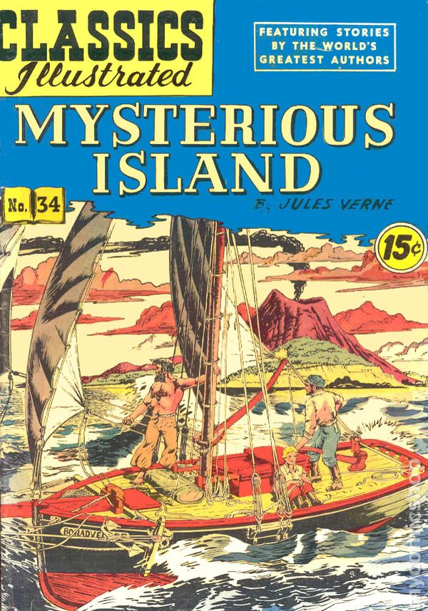Illustrated Book Cover Quest : Classics illustrated mysterious island comic books