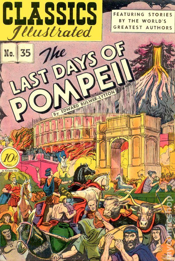 Classics Illustrated 035 Last Days Of Pompeii 1947 Comic