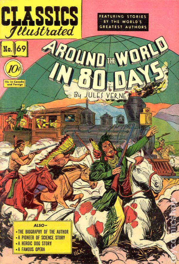 Classics Illustrated 069 Around The World In 80 Days 1950 Comic Books In Illustrated Book