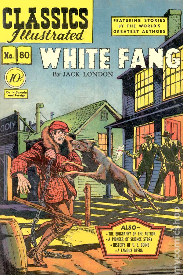 Worksheets White Fang 8th Grade classics illustrated 080 white fang 1951 comic books