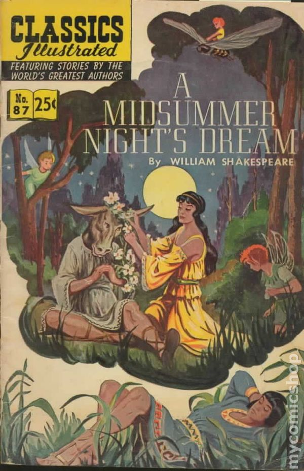 a comparison of movie and play in a midsummer nights dream a play by william shakespeare