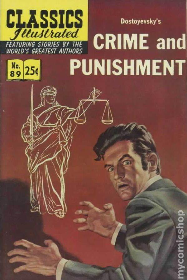 Classics Illustrated 089 Crime And Punishment 1951 Comic