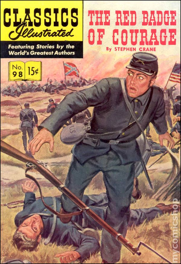 Classic Book Covers For Sale : Classics illustrated the red badge of courage