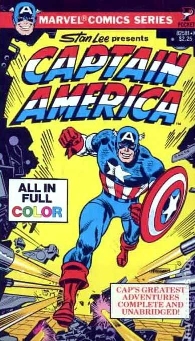 captain america pb 1979 pocket book marvel comics series