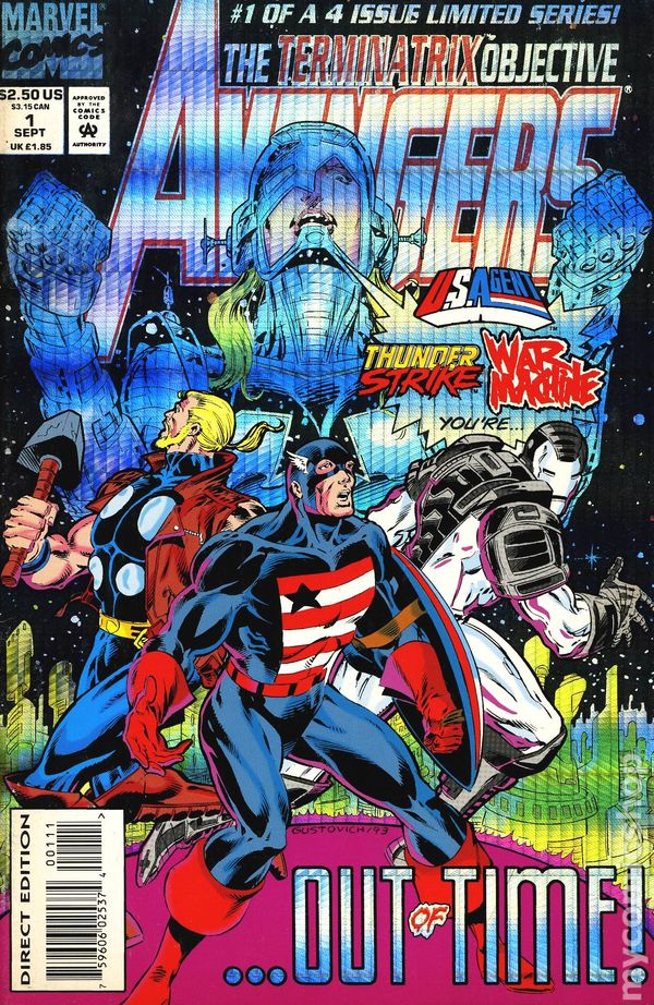 The Terminatrix Objective Of 4 Marvel Comics Avengers #1