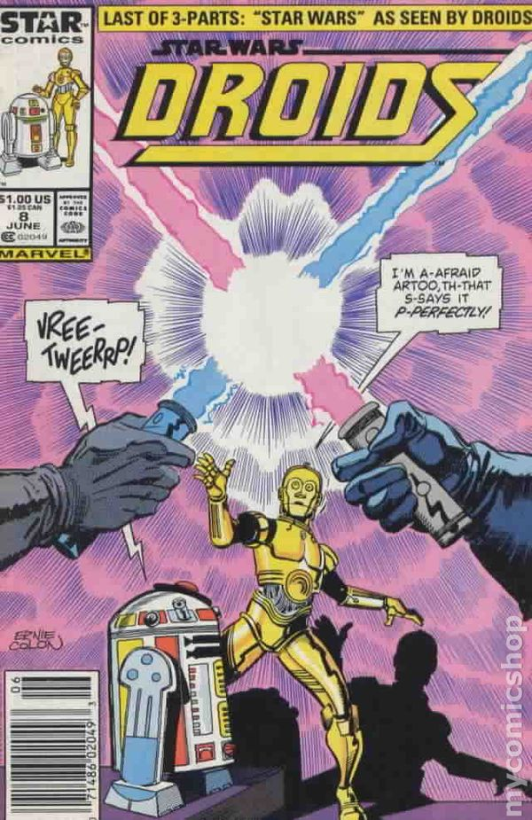Darth And Droids Comic Star Wars Droids 1986 1st Series Marvel Star Comics Comic Books star wars droids 1986 1st series